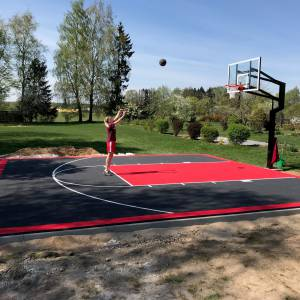 Sports Panels - Residential basketball court in Latvia